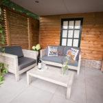 Het relaxte terras